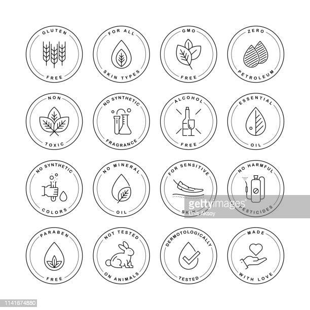 naturprodukt label set - natur stock-grafiken, -clipart, -cartoons und -symbole