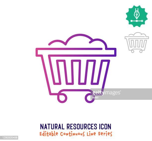 天然資源連続線編集可能アイコン - 仮想通貨マイニング点のイラスト素材/クリップアート素材/マンガ素材/アイコン素材