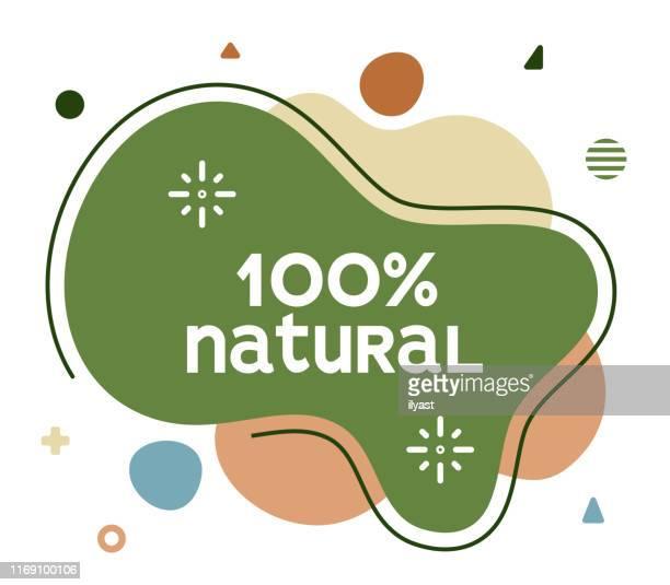 100 % natürliche social media werbung banner - organisch stock-grafiken, -clipart, -cartoons und -symbole