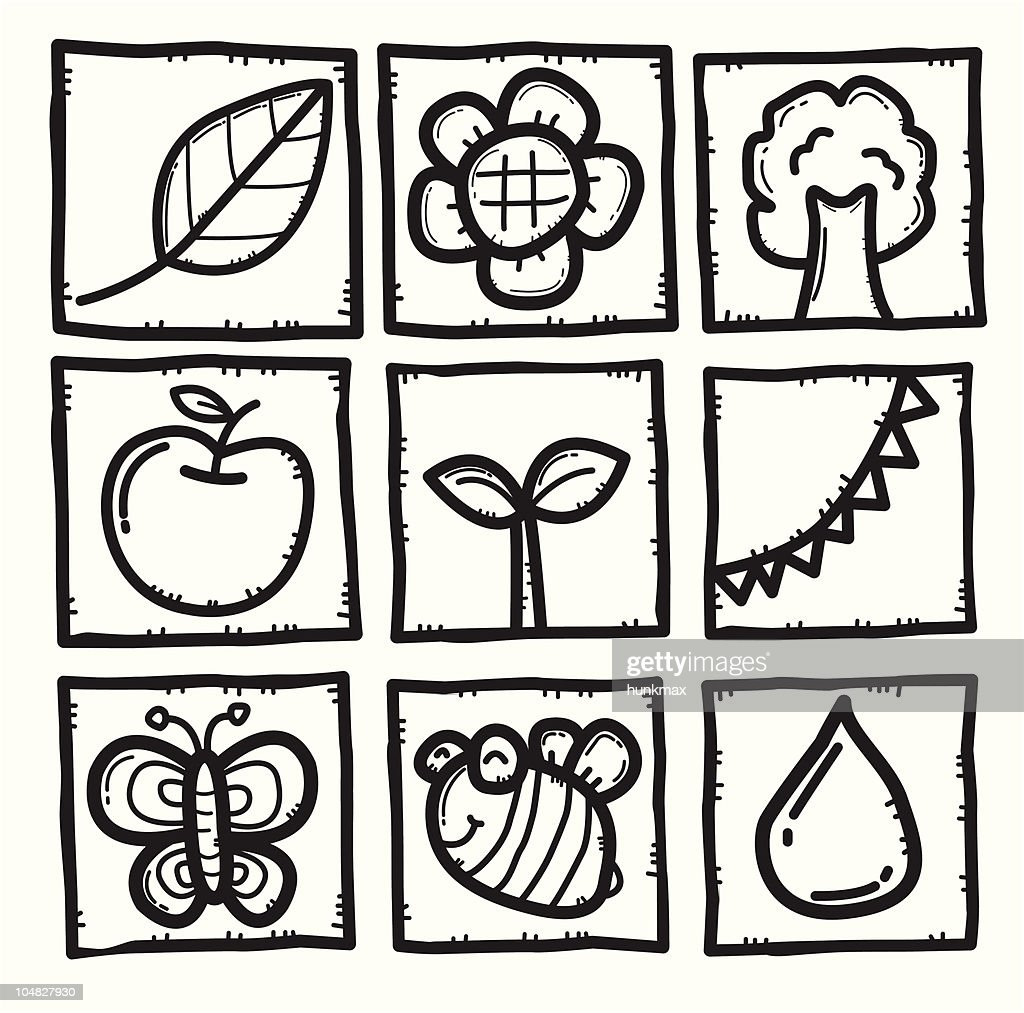 nature and plant icons
