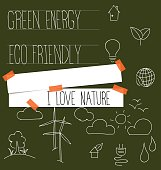 Nature banner with Ecology and environment Icons. Vector illustr