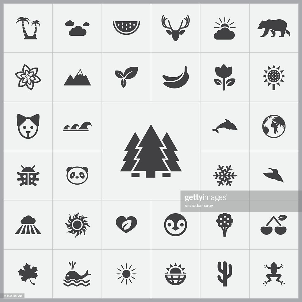 nature icons universal set
