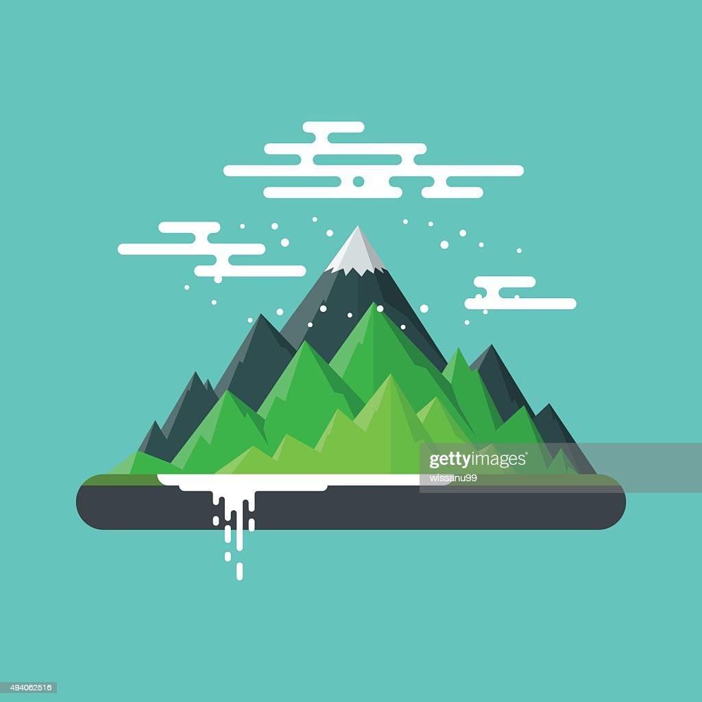 Nature Landscape Mountain.