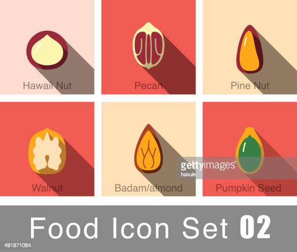 Nuts plana ícone design da natureza
