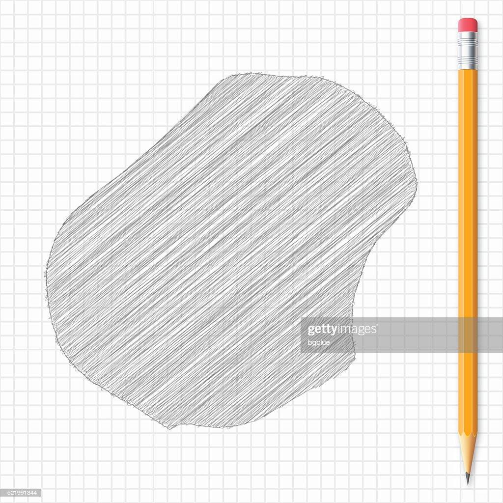 Nauru Map Sketch With Pencil On Grid Paper Vector Art Getty Images - Nauru map vector