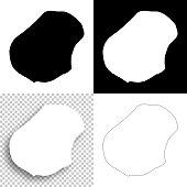 Nauru maps for design - Blank, white and black backgrounds