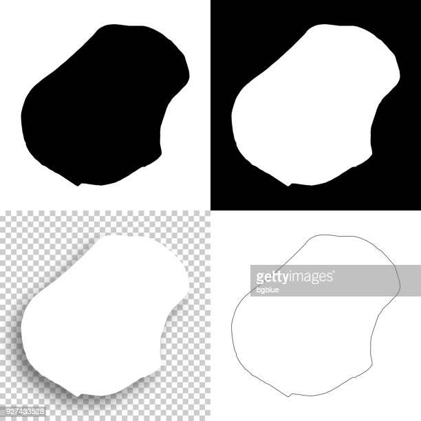 nauru maps for design - blank, white and black backgrounds - nauru stock illustrations, clip art, cartoons, & icons