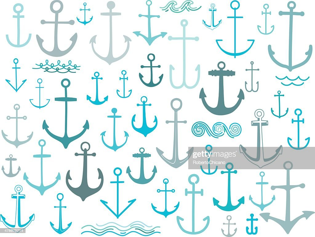 Nautical anchor collection