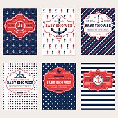 Nautical baby shower cards.