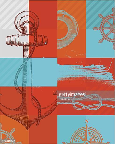 マリンの背景 - nautical vessel点のイラスト素材/クリップアート素材/マンガ素材/アイコン素材