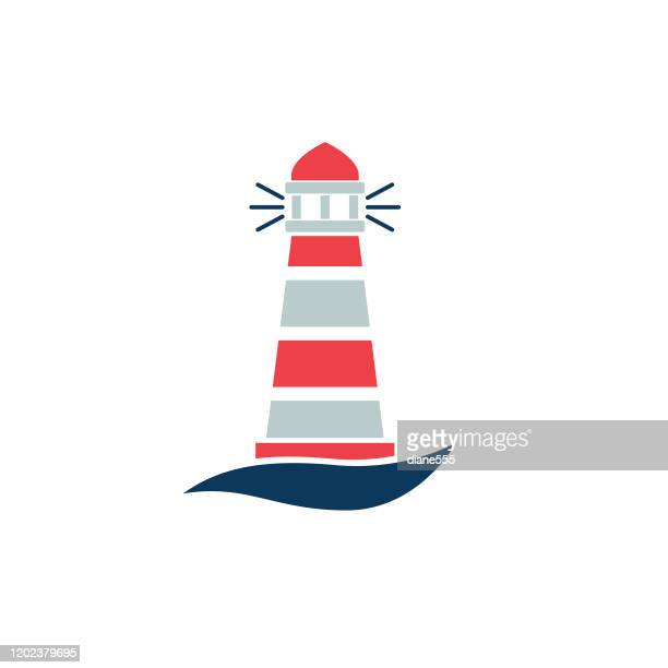 nautical icon - lighthouse - lighthouse stock illustrations