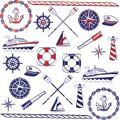 Nautical Icon Set (with JPG)