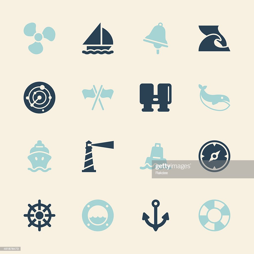 Nautical Icons - Color Series | EPS10 : stock illustration