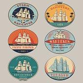 Nautical labels color