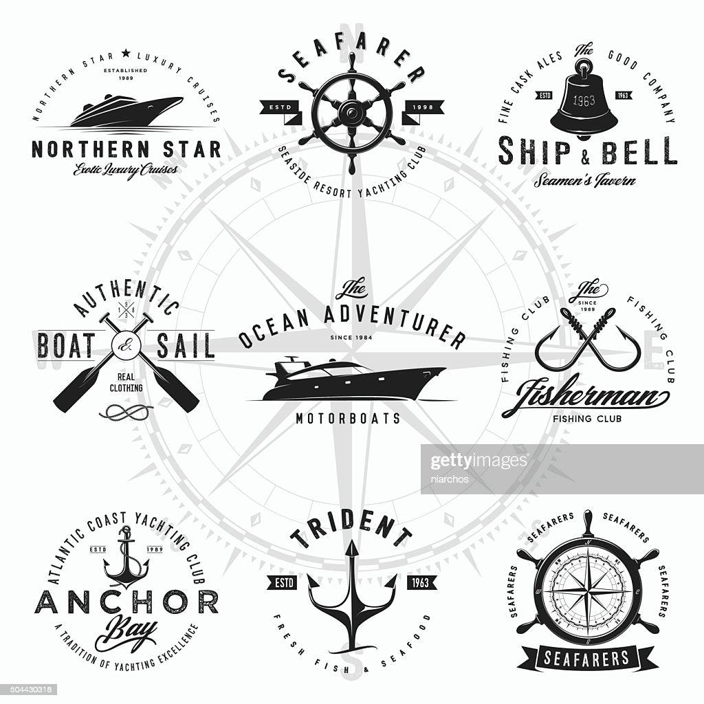 Nautical Logos : stock illustration