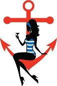 Nautical Pin Up Girl