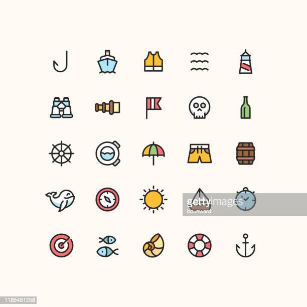 海のアウトライン アイコン - 救命胴衣点のイラスト素材/クリップアート素材/マンガ素材/アイコン素材