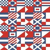 Nautical Signal Flags Pattern
