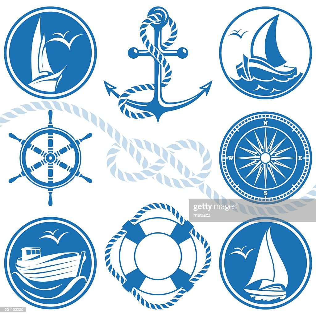 Nautical symbols and icons