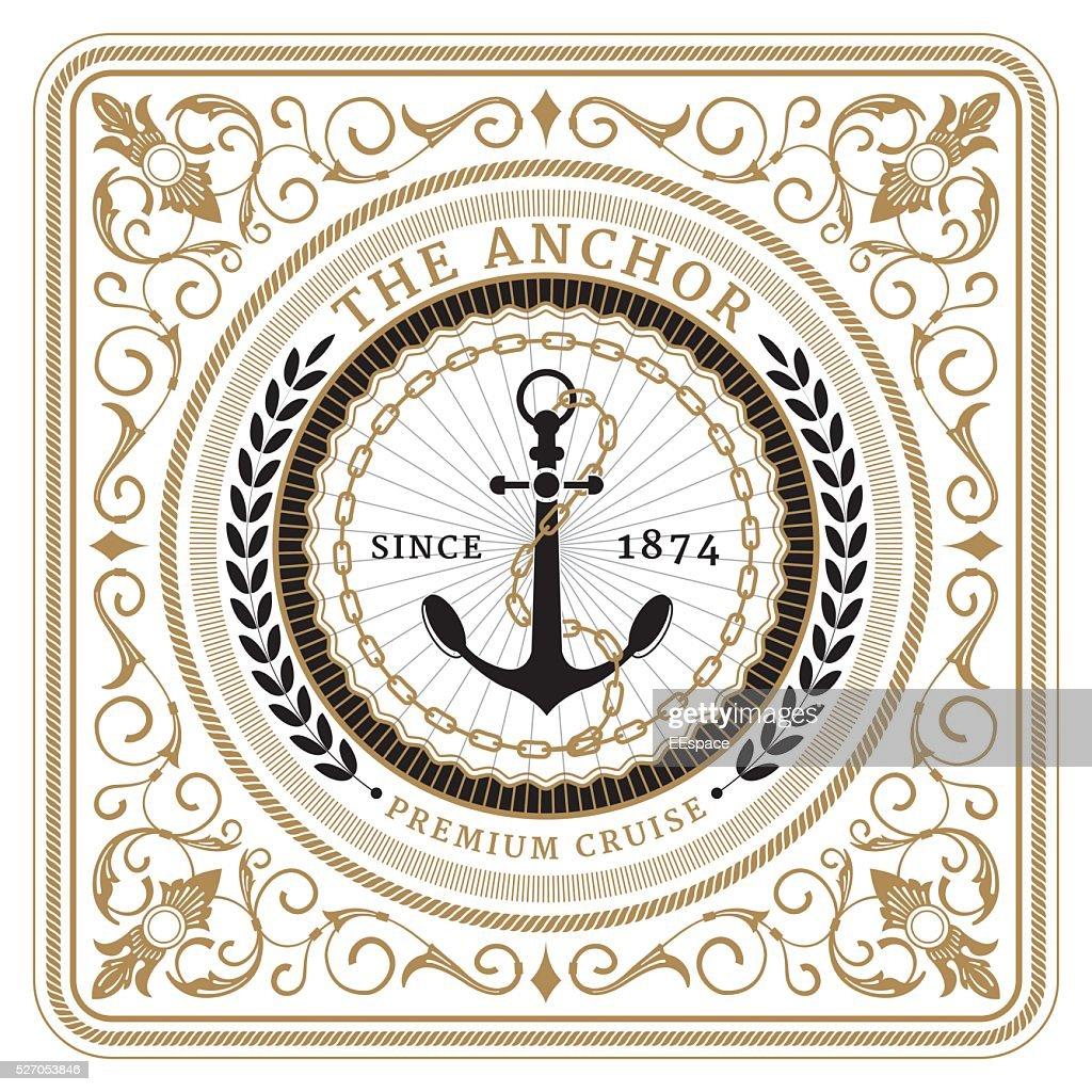 Nautical the anchor retro card
