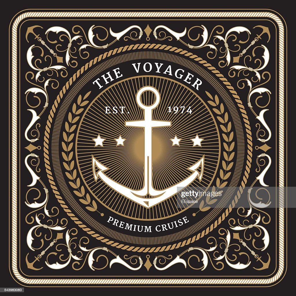 Nautical the voyager retro card