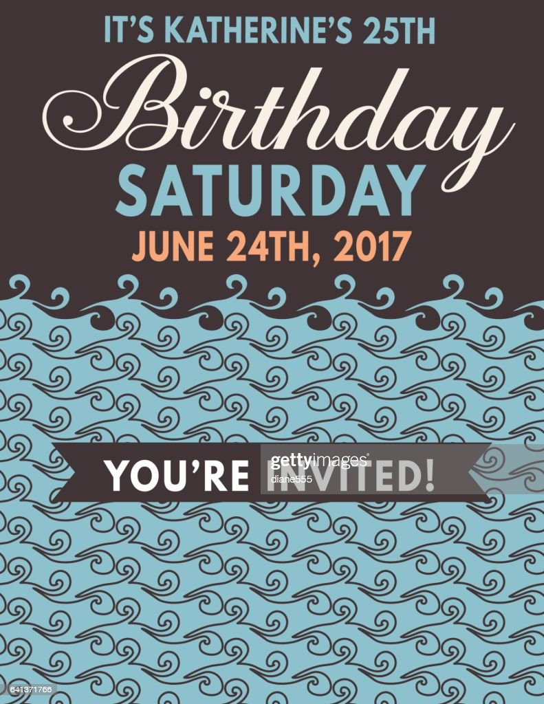 Nautical Theme Party Invitation Template