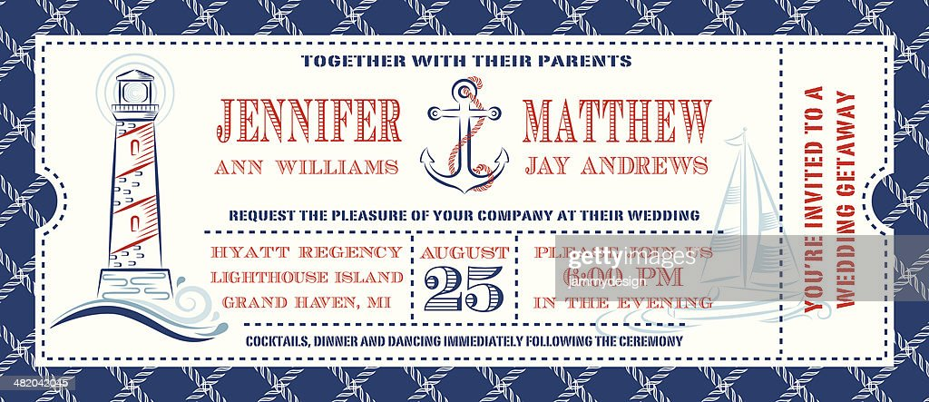 Nautical Ticket Invitation