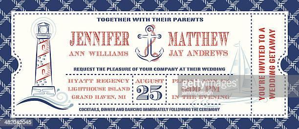 Nautical Ticket Invitation