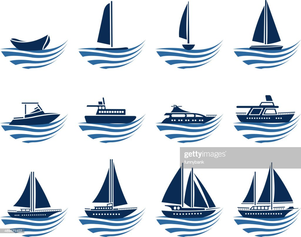 nautical vessel icons : stock illustration