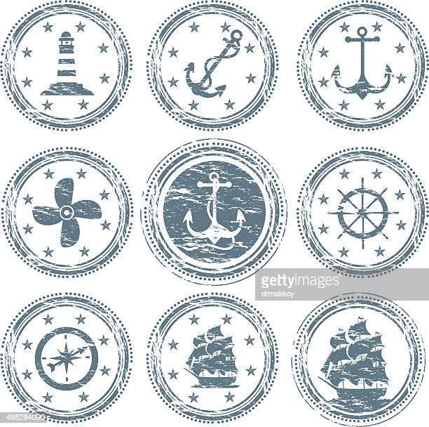 船舶シンボル - nautical vessel点のイラスト素材/クリップアート素材/マンガ素材/アイコン素材