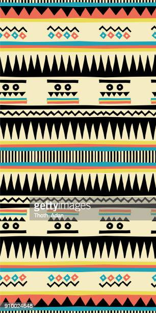 navajo (handmade pattern) - indigenous north american culture stock illustrations, clip art, cartoons, & icons