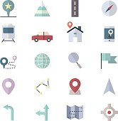 Navigation and location Icons
