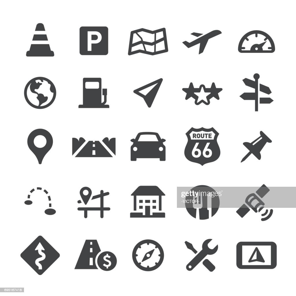 Navigation and Map Icons - Smart Series