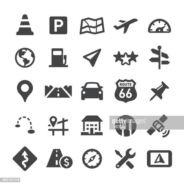 ナビゲーションと地図アイコン - スマート シリーズ - 副操縦士点のイラスト素材/クリップアート素材/マンガ素材/アイコン素材