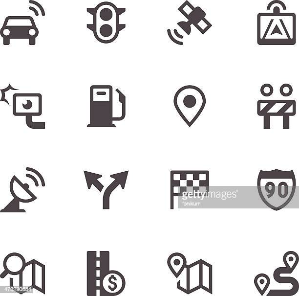 GPS Navigation and Road Icons