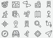 Navigation GPS Line Icons