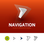 Navigation icon in different style