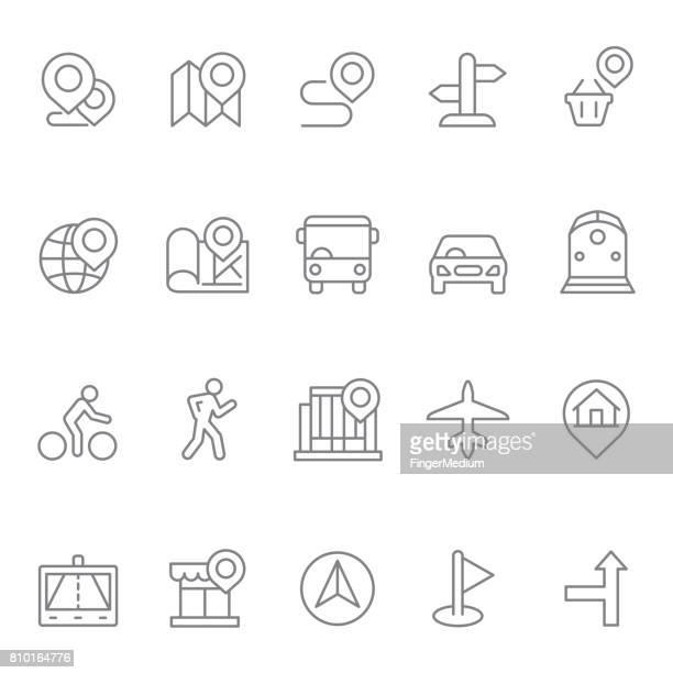 Navigatie pictogramserie