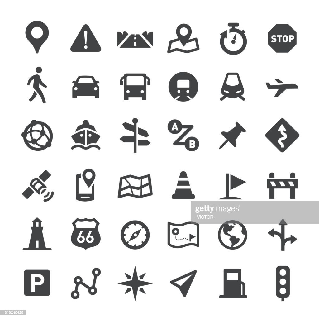 Navigation Icons - Big Series : stock illustration