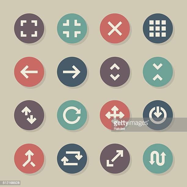 Navigation Icons - Color Circle Series