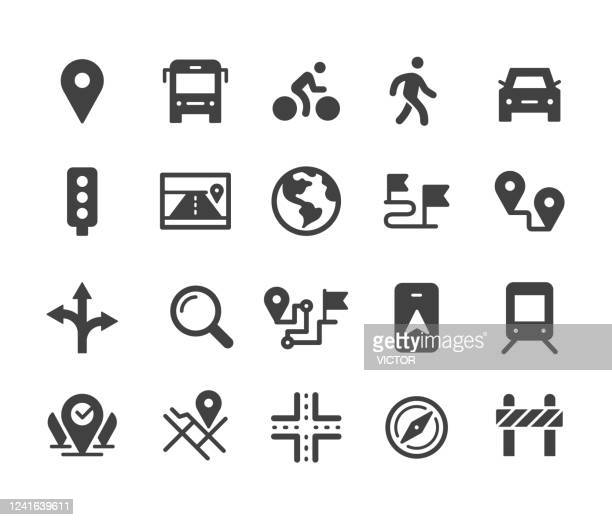 ナビゲーション アイコン セット - クラシック シリーズ - トレイル表示点のイラスト素材/クリップアート素材/マンガ素材/アイコン素材