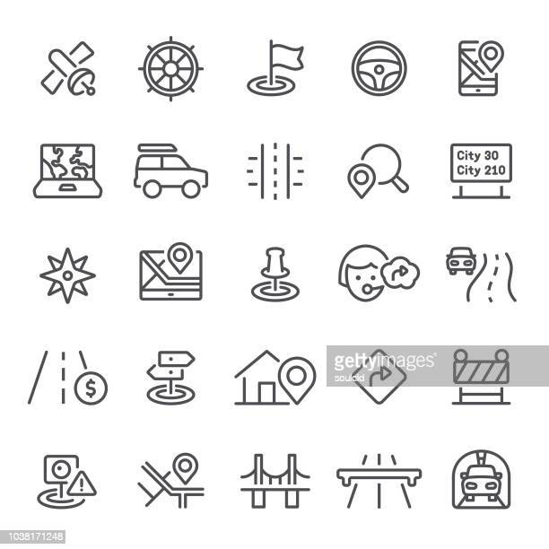 navigation icons - road sign stock illustrations, clip art, cartoons, & icons