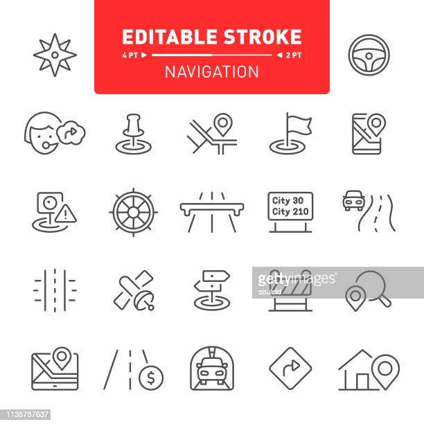 navigation icons - famous place stock illustrations