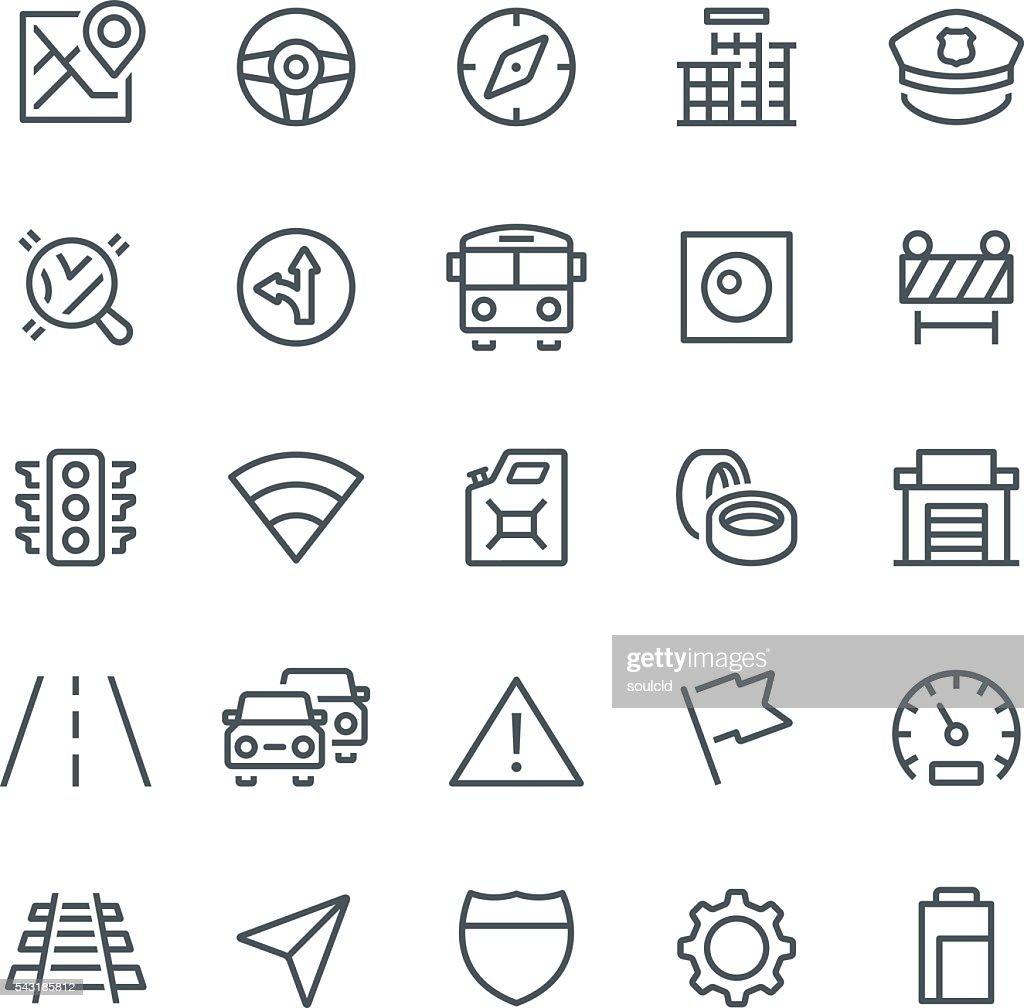 GPS Navigation Icons : stock illustration