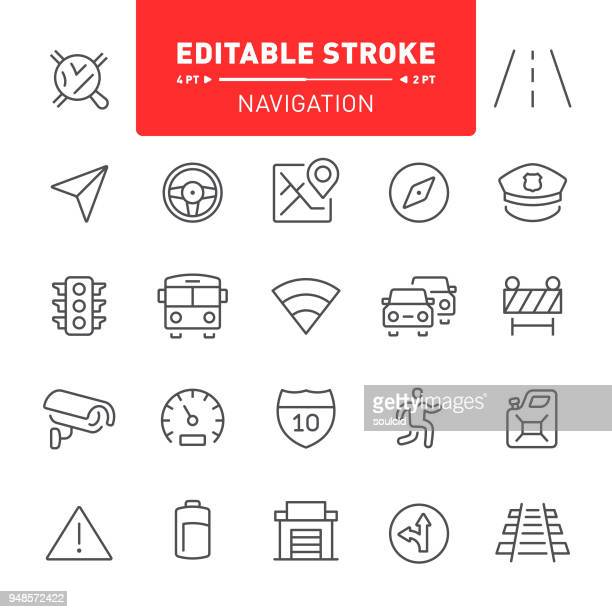 navigation icons - stoplight stock illustrations