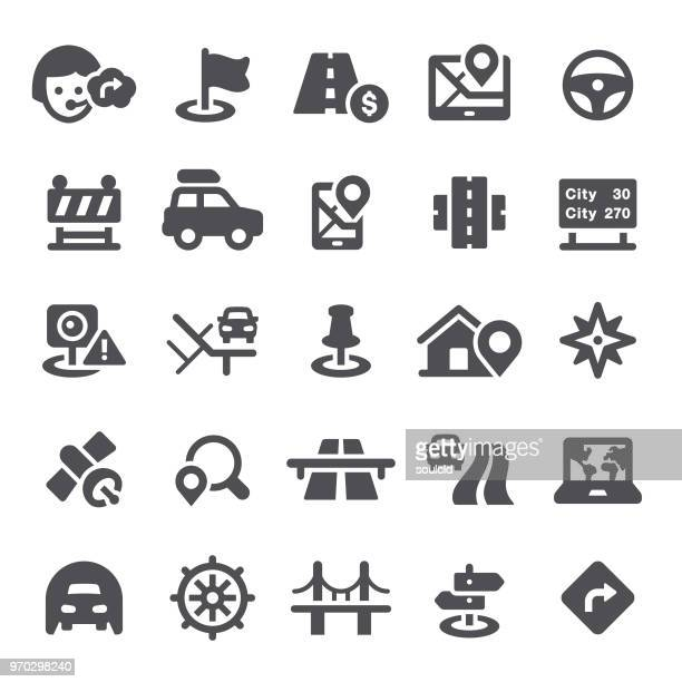 navigation icons - traffic stock illustrations
