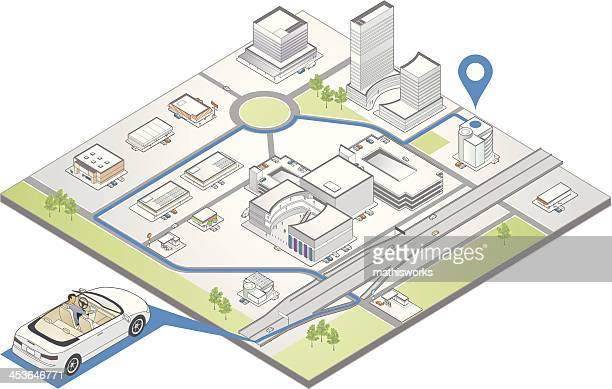 gps navigation illustration - mathisworks vehicles stock illustrations