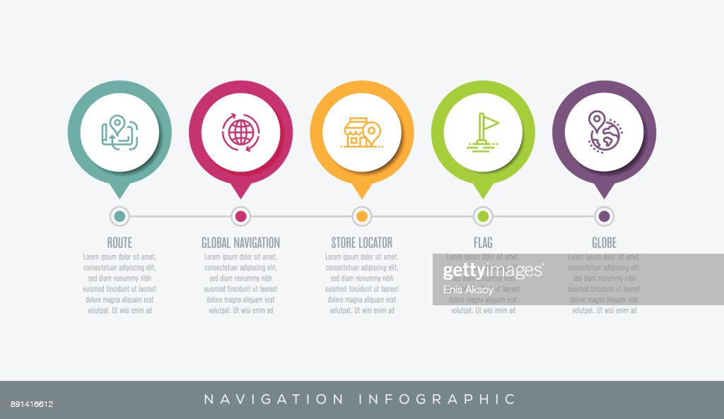 Navigation Infographic : stock illustration