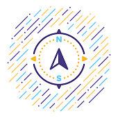 Navigation Line Icon