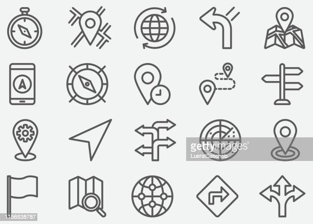 illustrations, cliparts, dessins animés et icônes de icônes de ligne de navigation - famous place